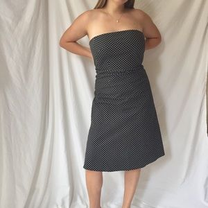 Y2K Strapless Polka Dot Dress
